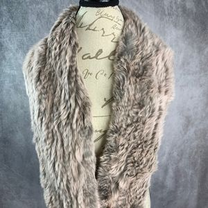 Jocelyn Knitted Fur Infinity Wrap Scarf